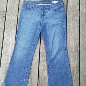 Gap curvy stretch jeans back pocket flaps size 16R